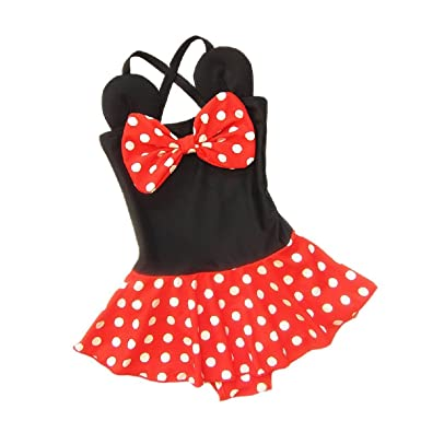8a476167bbbc8 Amazon.com: EGELEXY Baby Kid Girl Swimsuits Bathing Polka Dots Bowknot Swimwear  Tankini Dress: Clothing