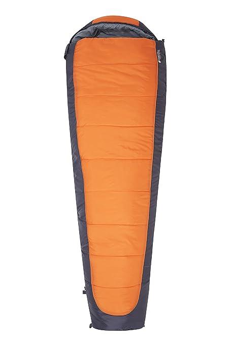 Mountain Warehouse Saco de Dormir Microlite 1400 con Forma de Momia - Aislante térmico de Fibra