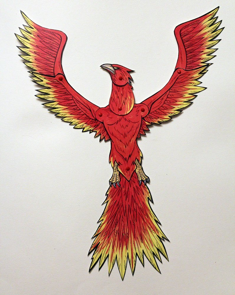 Phoenix Articulated Paper Doll