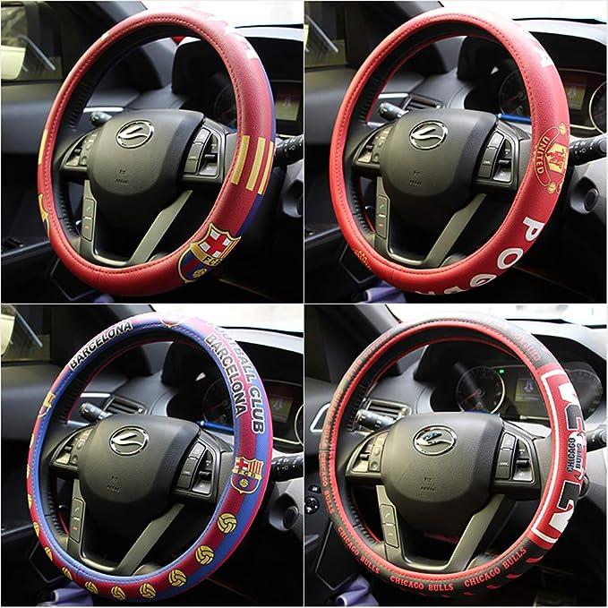 eing Car Steering Wheel Cover Football Team Universal 15 Inch Steering  Wheel Cover - Manchester United Team
