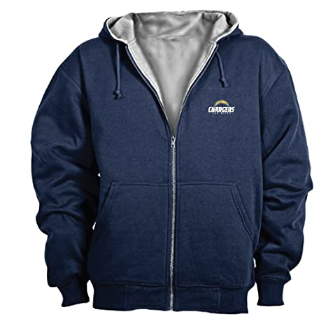 new product bae77 85aa4 Dunbrooke NFL Craftsman Full Zip Thermal Hoodie, San Diego Chargers - Small