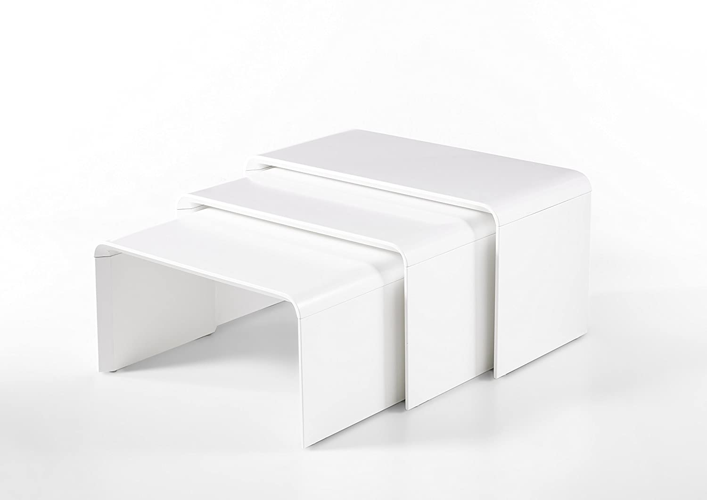 001 x 001 x 001 cm Robas Lund Couchtisch Phil Tavolino Basso 3 unit/à Bianco