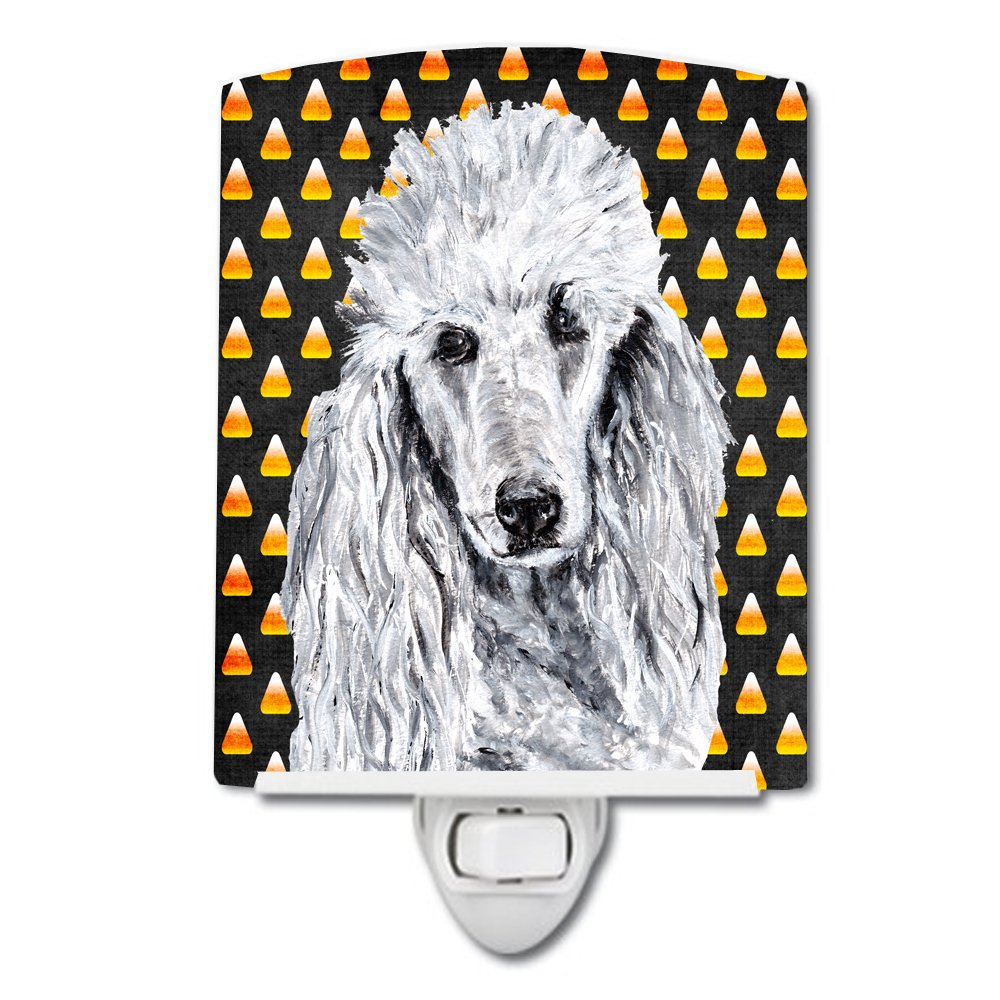 Caroline's Treasures White Standard Poodle Halloween Night Light, 6'' x 4'', Multicolor