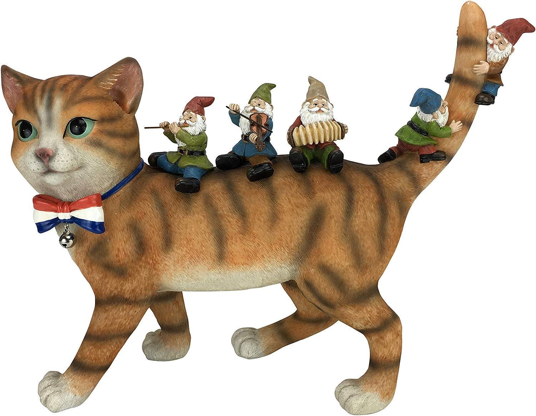 Patrick the Patriotic Miniature Cat and the Happy Gnomes A Fairy Garden Gnome
