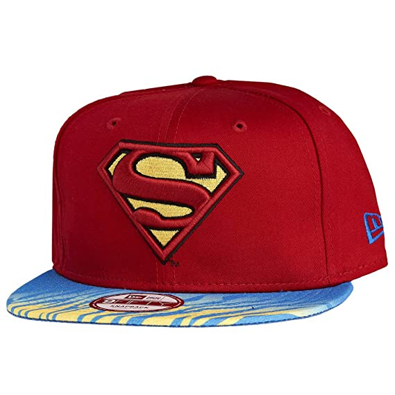 538501ca3327d New Era x DC Comics - Casquette Snapback Homme Superman 9Fifty Animal Fade  - Red
