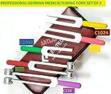 5pcs Premium Tuning Fork Set-Colored C2048