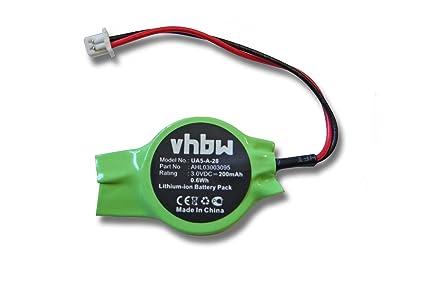 vhbw Batería para Bios 200mAh para portátiles HP Pavilion DV6000 DV6100 DV6200 DV6300 DV6500 DV9000,