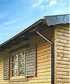 Marley Dachrinnen Set Duplexrinne Rg 70 2x4m braun mit Fallrohr Dachrinne Rinnensatz Regenrinne