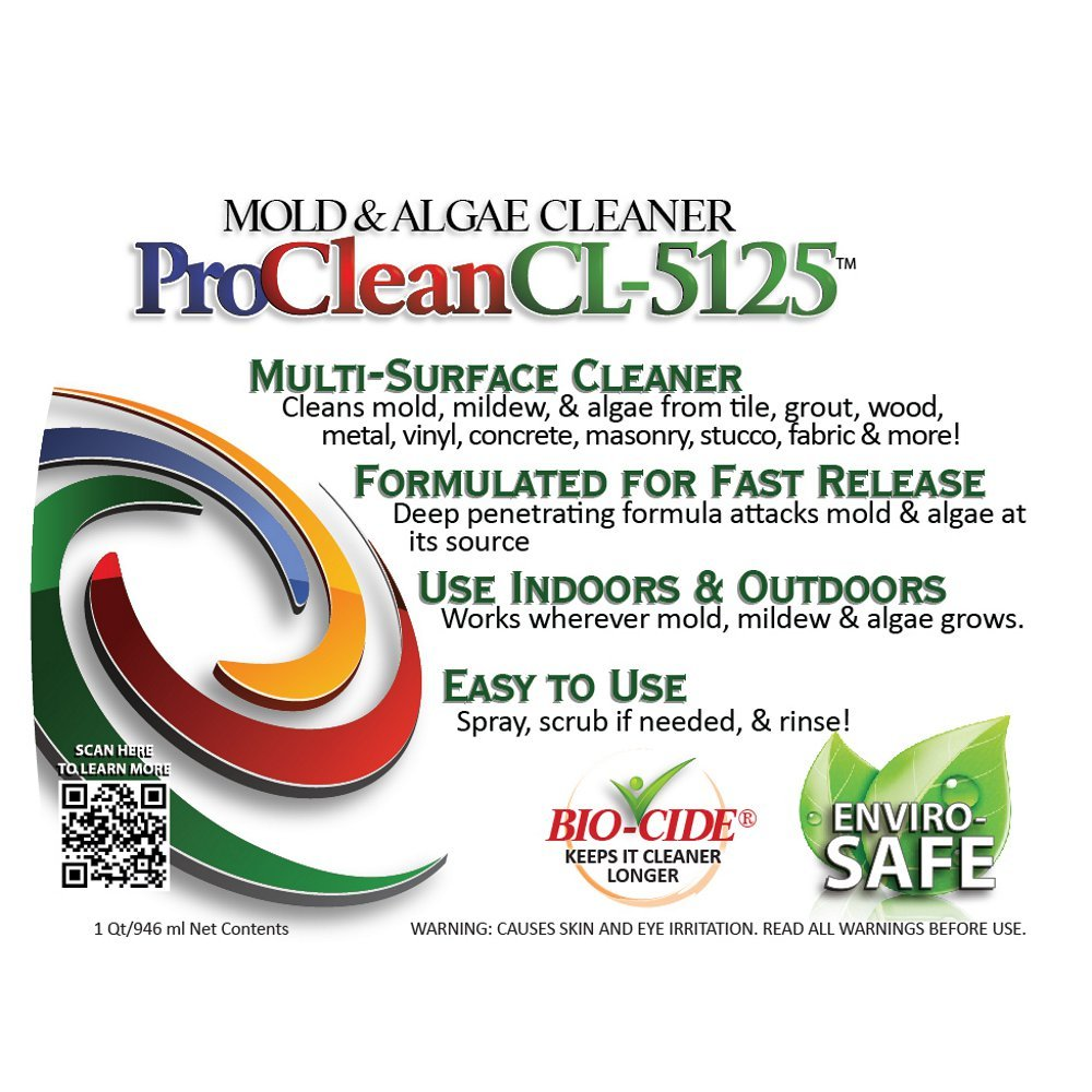 ProClean CL-5125 Mold Mildew Algae Cleaner and Remover 32oz twin pack by CWP ProSeries (Image #7)
