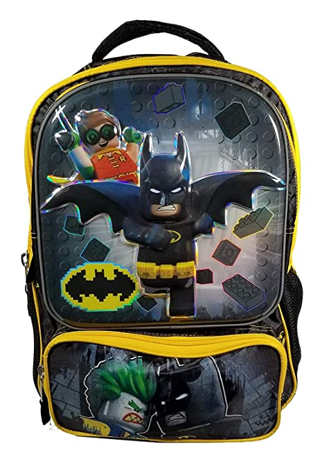 e0ffe86c195 Licensed 16-Inch Deluxe Backpack with High-Res Embossed Graphic  (Lego  Batman