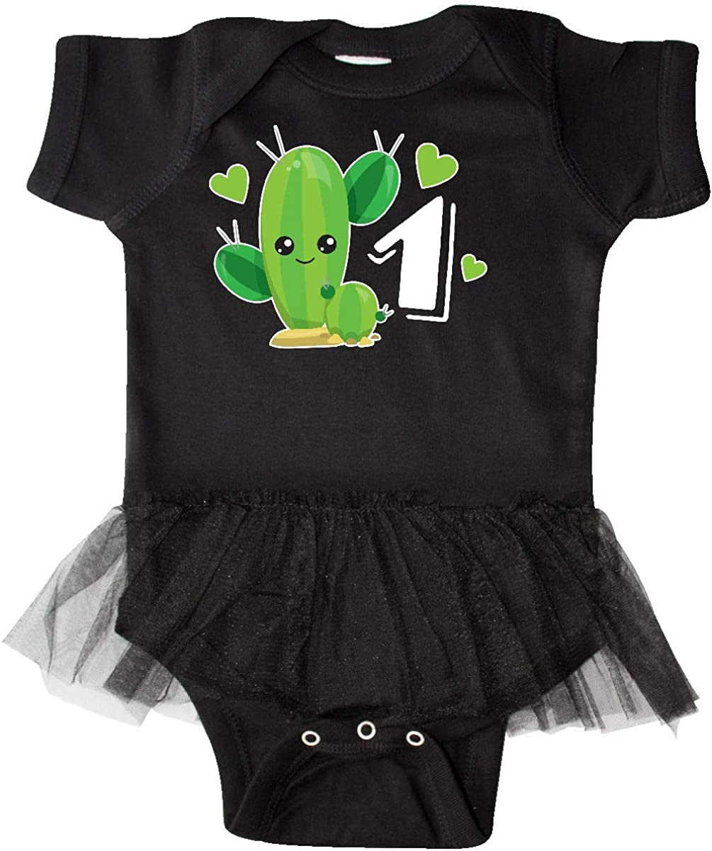 inktastic Im 1 with Cute Cactus and Hearts Infant Tutu Bodysuit