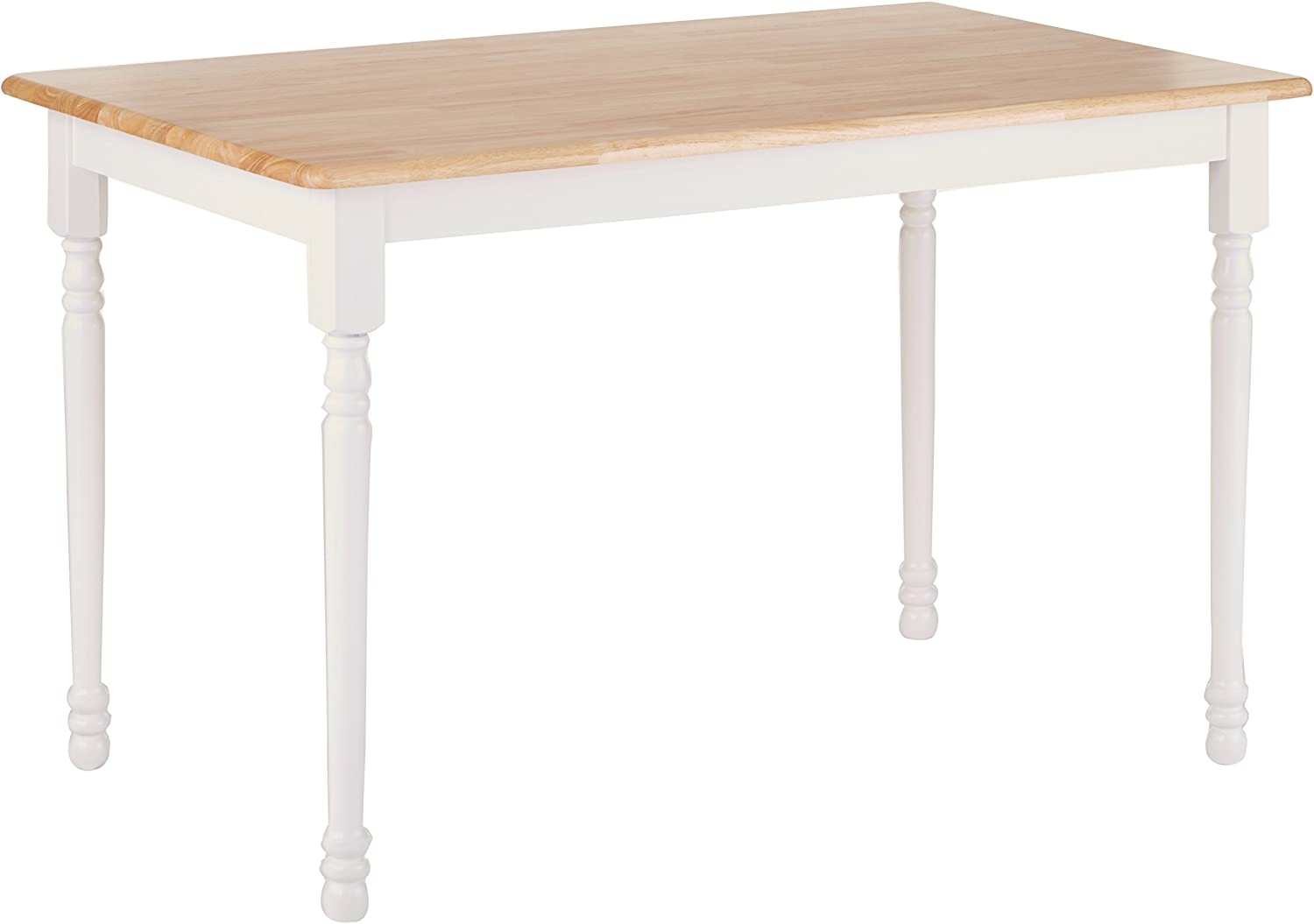 Damen Rectangle Dining Table Natural Brown and White