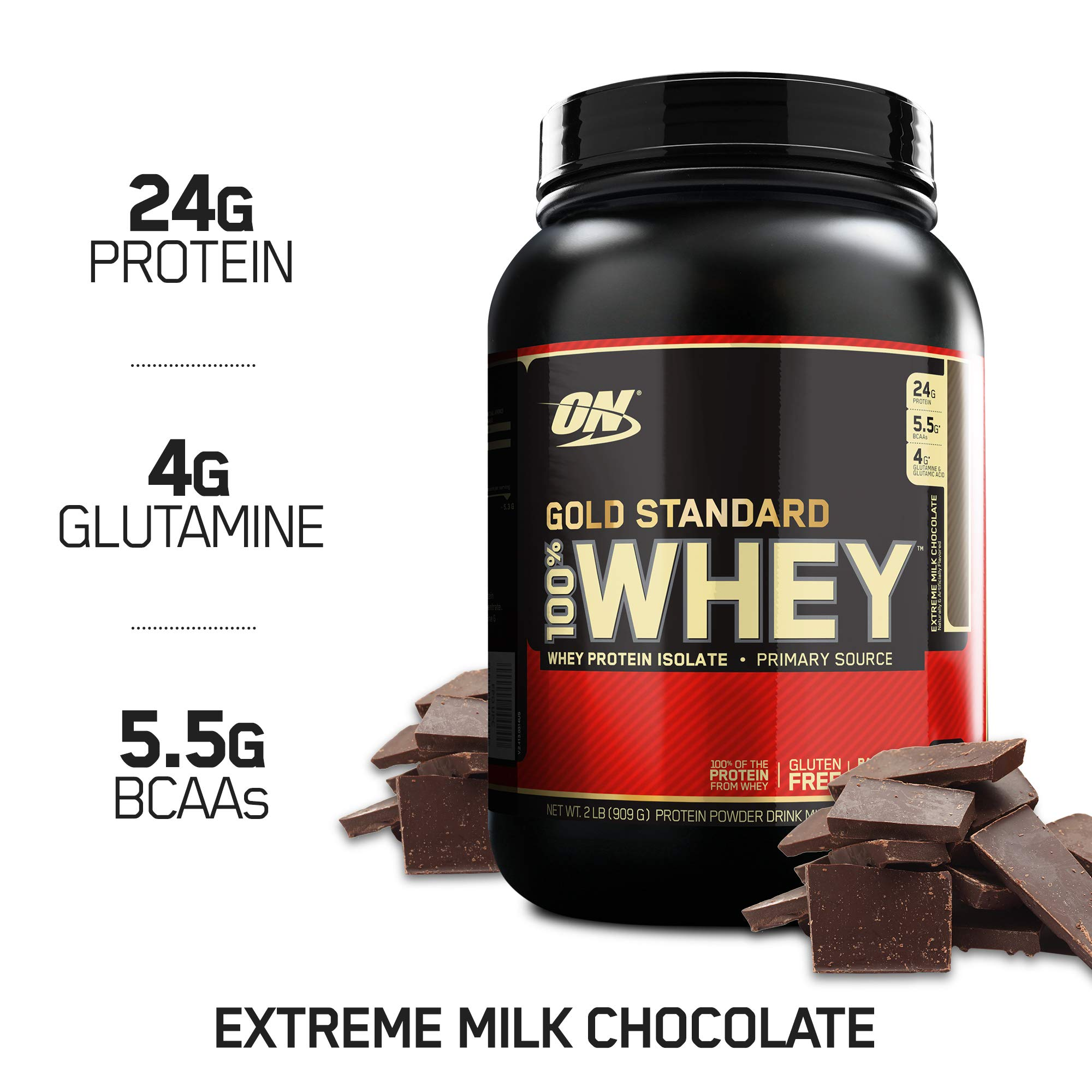 OPTIMUM NUTRITION Gold Standard 100% Whey Protein Powder, Extreme Milk Chocolate, 2 Pound by Optimum Nutrition