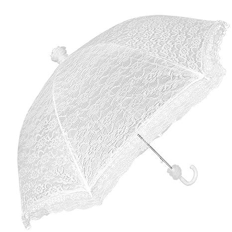 700c554000ac Ombrello sposa bianco in pizzo – Ombrello da matrimonio ideale per la  pioggia e per il