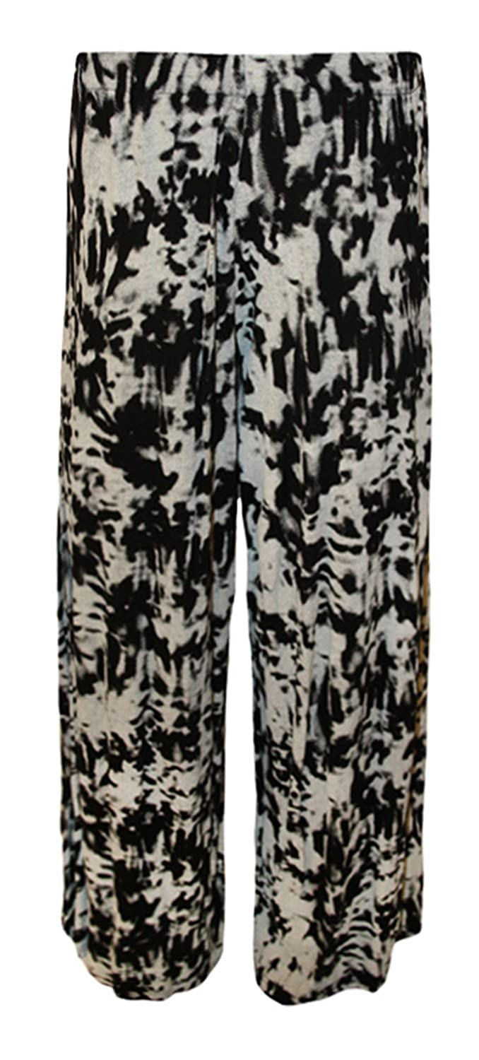 558b3b6a97d durable modeling Forever Womens Plus Size Rose Skull Aztec And Leopard Print  Palazzo Trousers