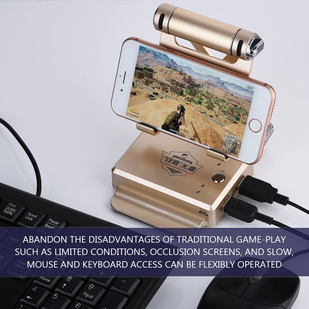 Amazon.com: fosa BattleDock PUBG Fortnite Mobile FPS Game Mouse and Keyboard Converter for Android iPhone iPad for Chicken Dinner/Rules of Survival/CF ...