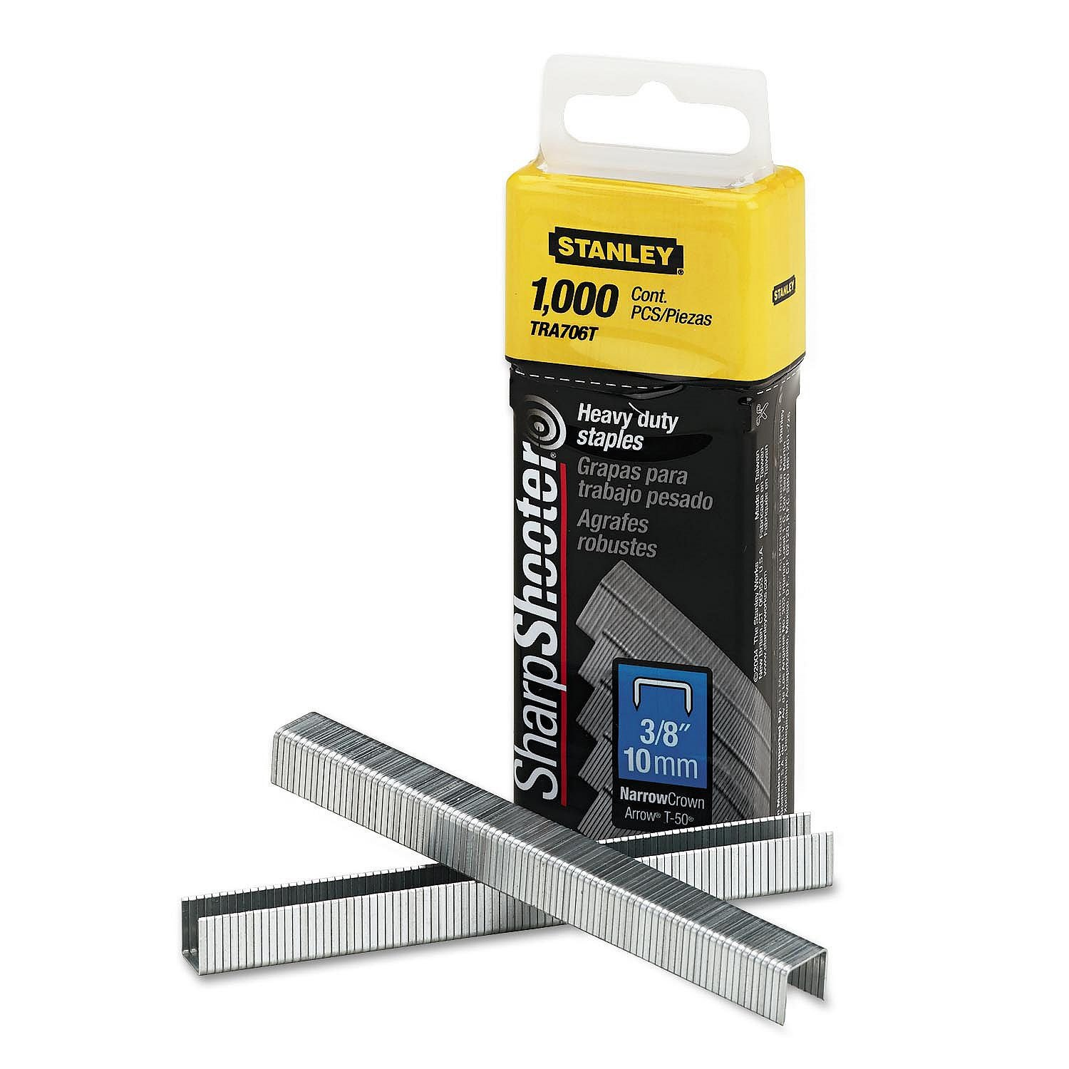Stanley Sharpshooter Staples TRA706T 3/8 Inch Leg Length, 1000/Box, Pack of 2