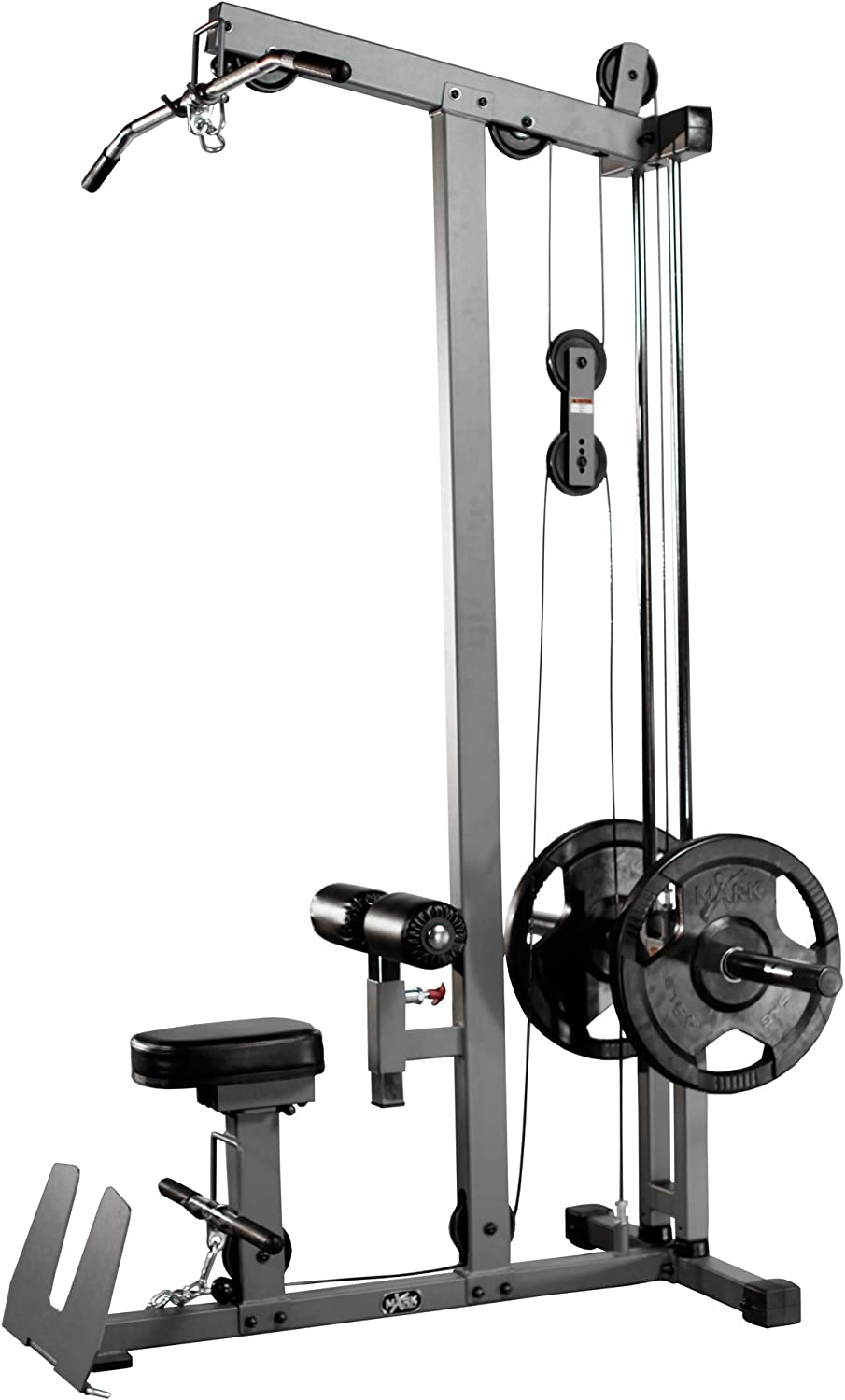 Amazon.com : XMark Heavy Duty LAT Pulldown and Low Row Cable Machine with High and Low Pulley Stations and Flip-Up Footplate (Plates Not Included) : Arm Exercise Machines : Sports & Outdoors