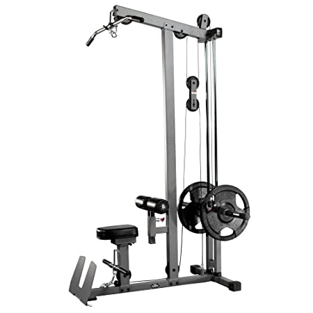 XMark Heavy Duty Lat Pulldown and Low Row Cable Machine Featuring High And Low Pulley Stations And A Flip Up Footplate XM-7618