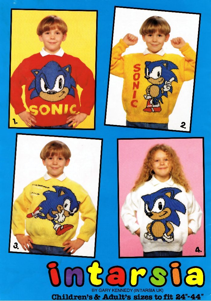 Sonic The Hedgehog Knitting Pattern Booklet: 4 Knitting Patterns for ...