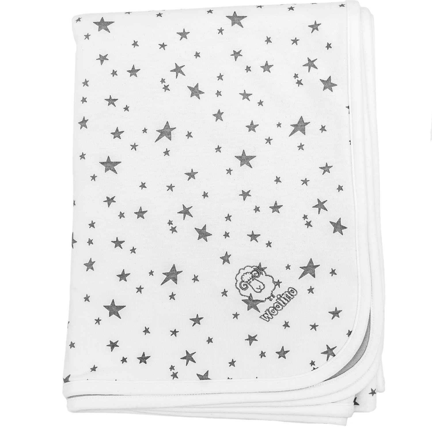 Baby Blanket for Crib or Stroller, Merino Wool Blanket, 40'' x 31.5'', Stars by Woolino (Image #2)