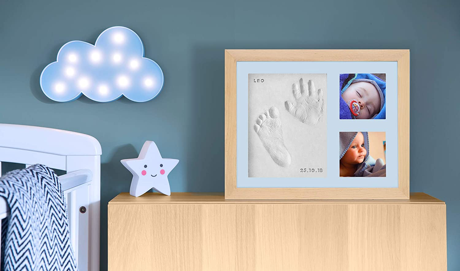 Baby Handprint Photo Frame kit by Kubai Letters /& Numbers Stamps with Choice of mat to Personalize Your Keepsake for Baby Shower /& Registry Birthday Gift Room//Wall//Nursery Decor pet//Dog Ornament