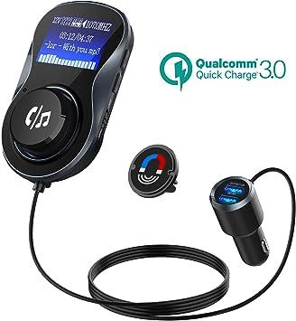 Accesorios Para Autos Transmisor FM Radio Bluetooth USB Cargador IPHONE Samsung