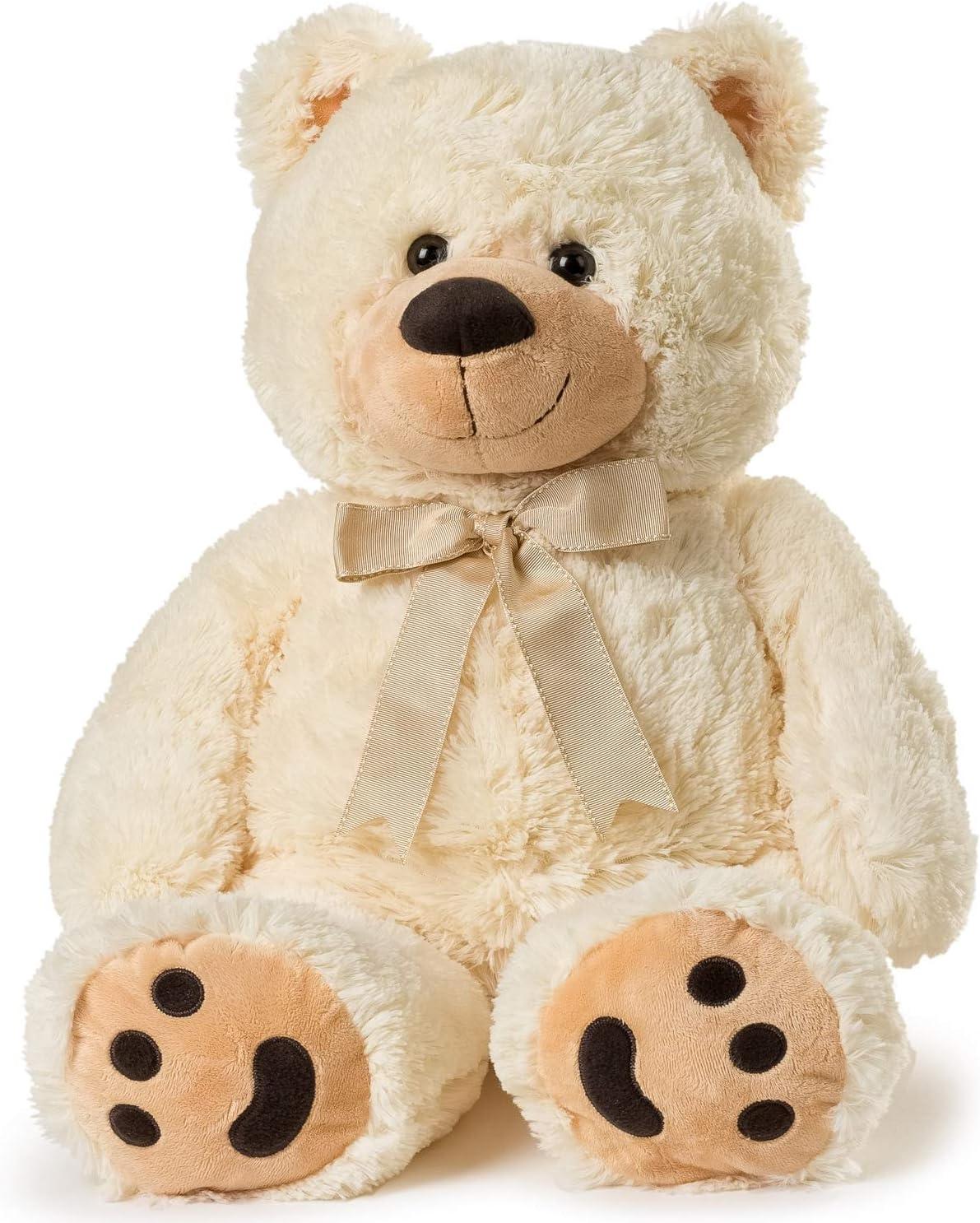 Hay Hay Chicken Stuffed Animal, Amazon Com Big Teddy Bear Cream Toys Games