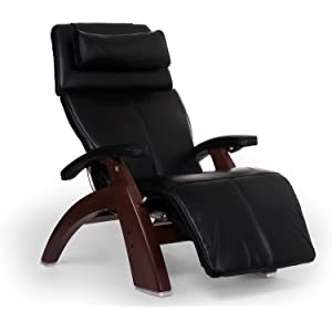 "Perfect Chair ""PC-610 Omni-Motion Classic"" Premium Full Grain Leather Zero Gravity Recliner, Black"