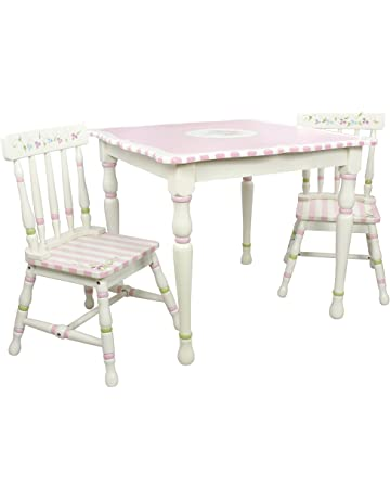 395a3e7d564b Fantasy Fields - Bouquet Thematic Hand Crafted Kids Wooden Table and 2  Chairs Set