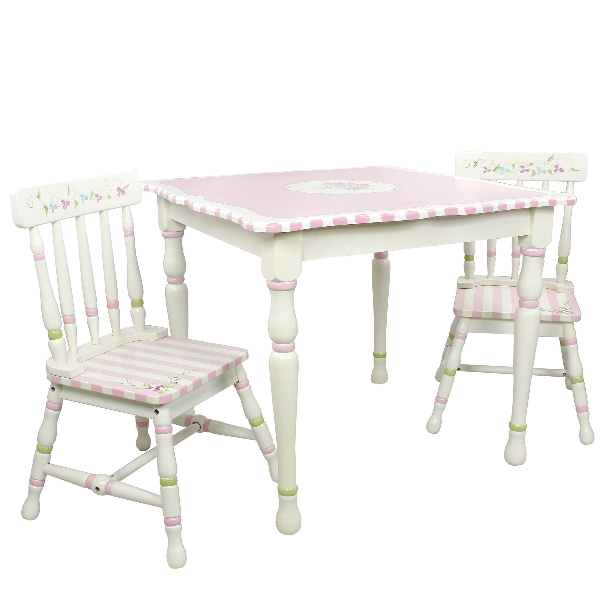 Fantasy Fields - Bouquet Thematic Hand Crafted Kids Wooden Table and 2 Chairs Set |Imagination Inspiring Hand Crafted & Hand Painted Details   Non-Toxic, Lead Free Water-based Paint by Fantasy Fields