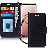 FYY Luxury PU Leather Wallet Case for Samsung Galaxy S9, [Kickstand Feature] Flip Phone Case Protective Cover with [Card Hold