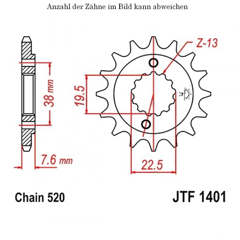 jt Sprockets Ritzel 15 Z/ähne LT-R 450 QuadRacer 2006-2012 JTF1401.15