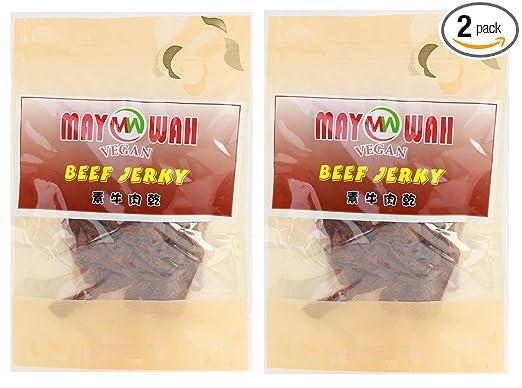 Vegan Beef Jerky, proteína de soja sin GMO, sin pegamento (2 ...