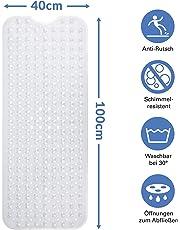 BAMONDO - XXL Badewanneneinlage Für Kinder Und Erwachsene - Extra Lang - 100 x 40 cm Wanneneinlage Badewanne - Sicherer Halt Durch Spezielle Saugnäpfe an der Duschmatte