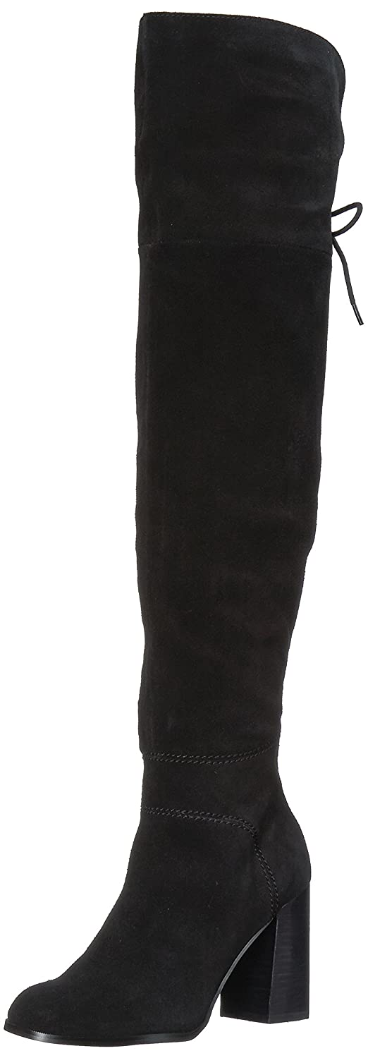 Steve Madden Women's Novela Riding Boot B071P4R1MV 9 B(M) US|Black Suede