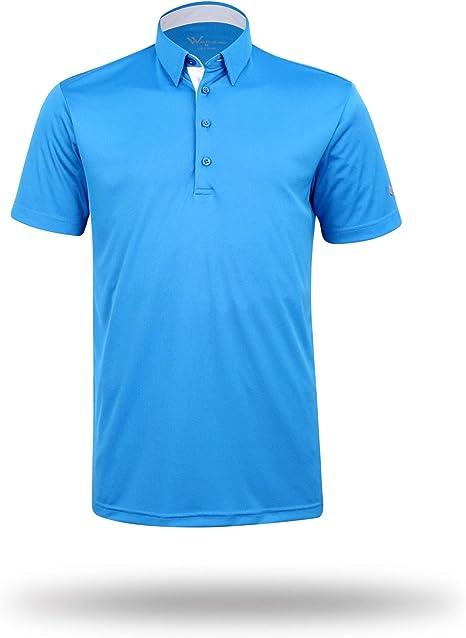 MORSA Henry Solid Golf – Polo para hombre (manga larga), color ...