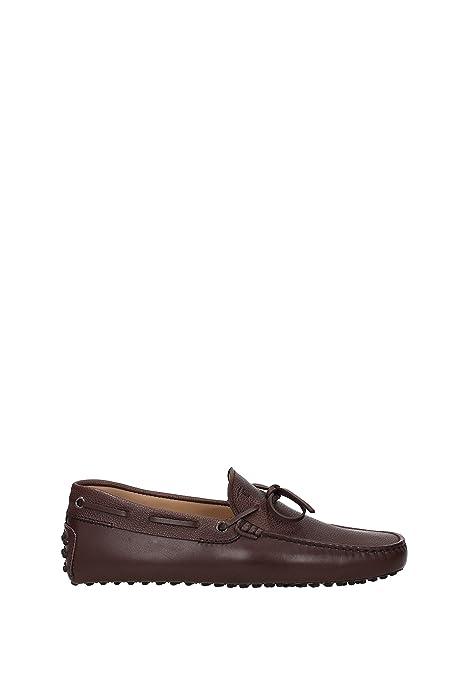 Tods - Mocasines de Piel para Hombre * marrón Size: 38.5