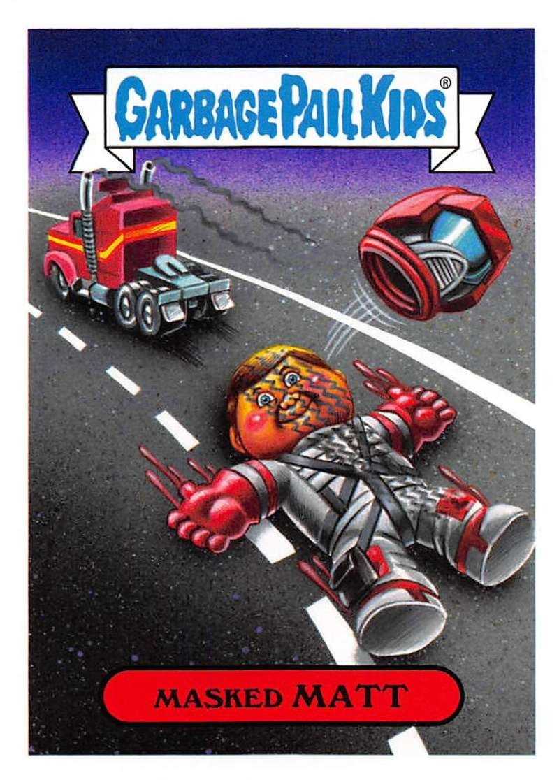 2018 Topps Garbage Pail Kids Series 1 We Hate the 80s Trading Cards 80s CARTOONS #4A MASKED MATT