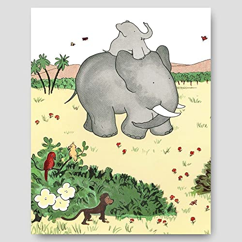 Amazon.com: Babar the Elephant Art (Childrens Wall Decor, Baby ...
