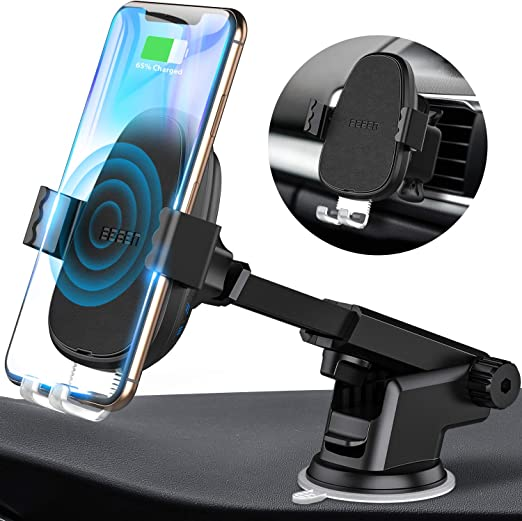 QI Automatic Clamping Wireless Car Charging Charger Mount Air Vent Phone Holder