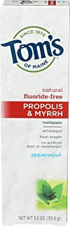 product image for Tom's of Maine, Propolis & Myrrh Fluoride Free Toothpaste - Spearmint, 5.5 Ounce