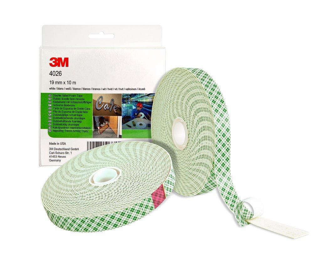 3M 4026 Cintas de Doble Cara de Espuma de Poliuretano, 19 mm x 10 m, 10 unidades: Amazon.es: Industria, empresas y ciencia