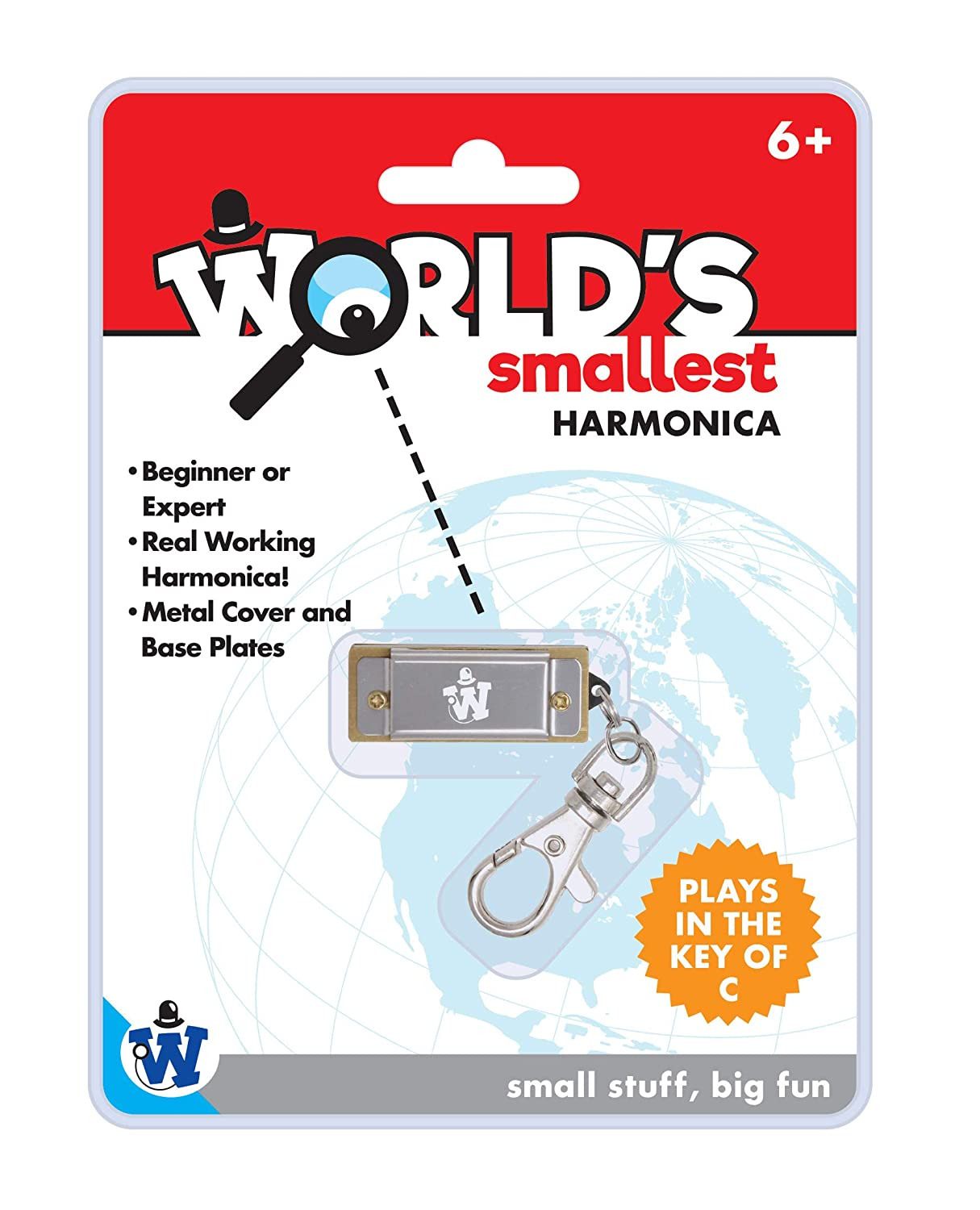 Black, Gold or Silver Random Color Westminster World/'s Smallest Harmonica