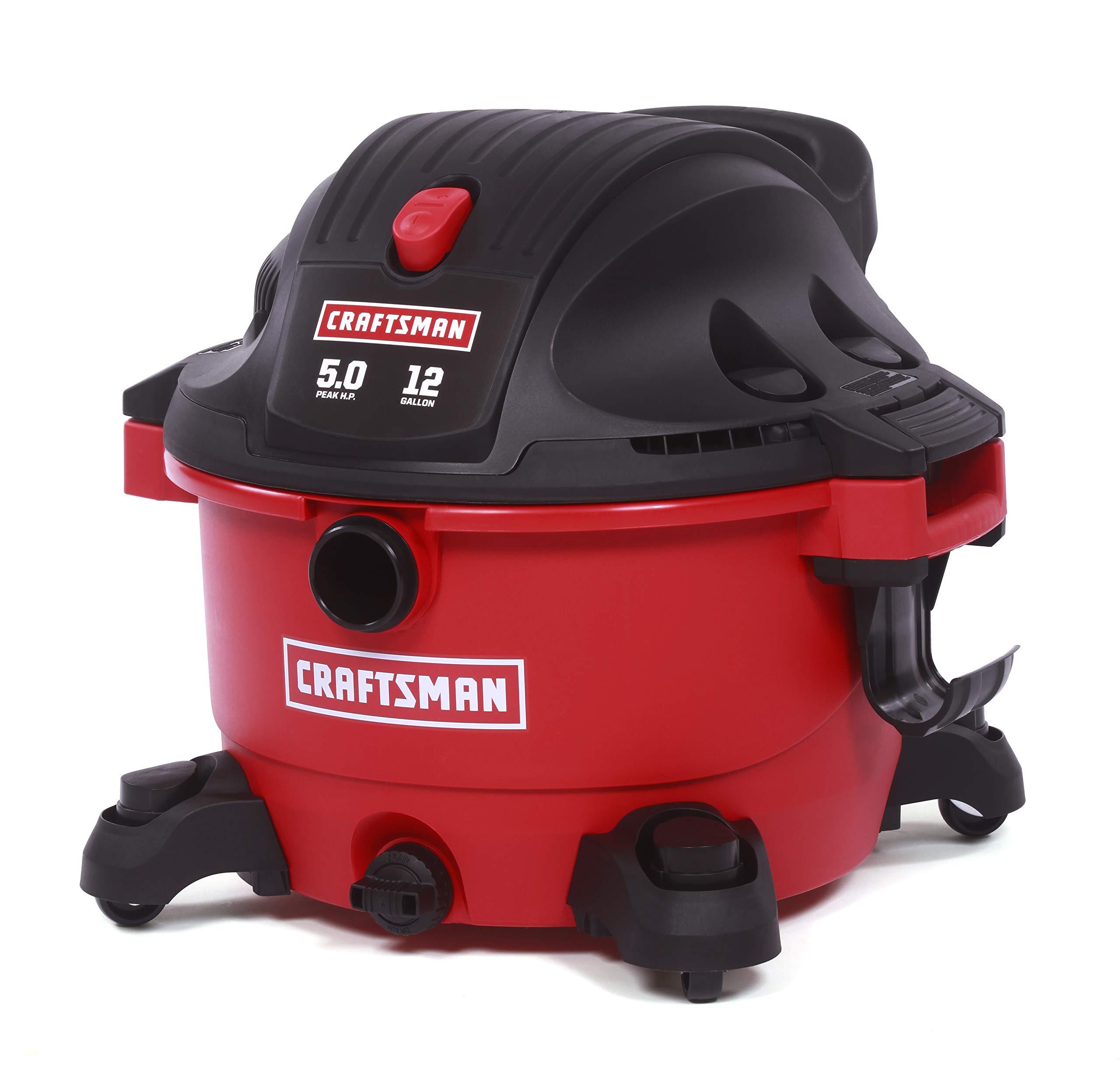 Craftsman 9-17765 12 Gallon 5.0 Peak Horsepower Wet and Dry Vacuum