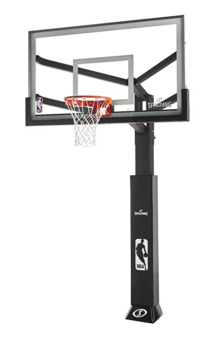 "Spalding 72"" Glass Arena View Series In-Ground Basketball Hoop"