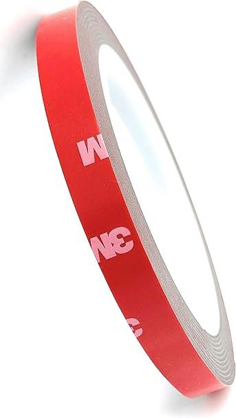 Cinta de montaje de doble cara de espuma acrílica, de 3M. Tamaño: 10 mm x 3 m, espesor: 1 mm. Viene en una bolsa de plástico antiadherente especial. 4218P: Amazon.es: Bricolaje y