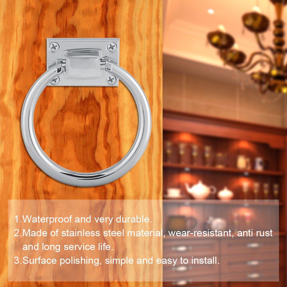 Shiny Silber Drop Pull Ring M/öbel Schrank Griff Holz T/ürklopfer Stuhl zieht Griff Schrankgriffe M/öbelbeschl/äge
