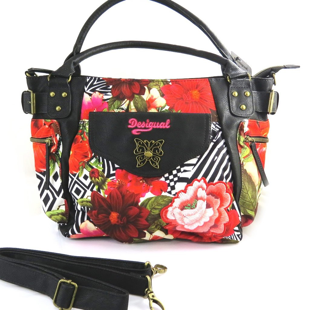 Amazon.com: Designer bag Desigual red black.: Clothing