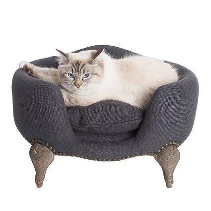Caseta Cama para perros y gatos (madera maciza